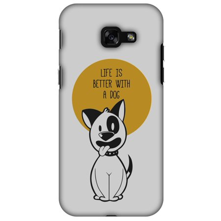 Samsung Galaxy A3 2017 Case, Premium Handcrafted Designer Hard Shell Snap On Case Printed Back Cover with Screen Cleaning Kit for Samsung Galaxy A3 2017, Slim, Protective - Life Is Better With A Dog](Galaxy Life Halloween 2017)