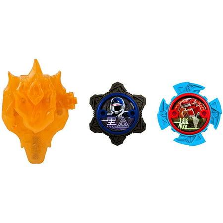 Power Rangers Power Up Blue & Black Ninja Power Star 2-Pack with Launcher (Blue Power Ranger Samurai)