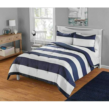 Your Zone Cabana Stripe Comforter Set, 1 Each