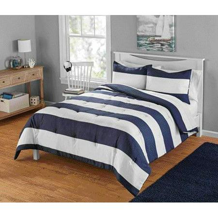 Your Zone Cabana Stripe Comforter Set 1 Each Walmart Com