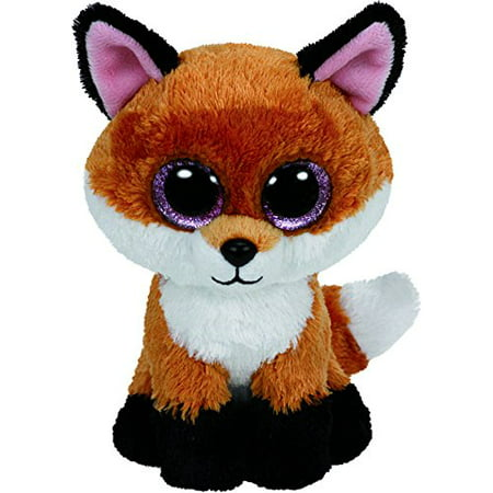 New TY Beanie Boos - Slick The Brown Fox (Glitter Eyes) Small 6