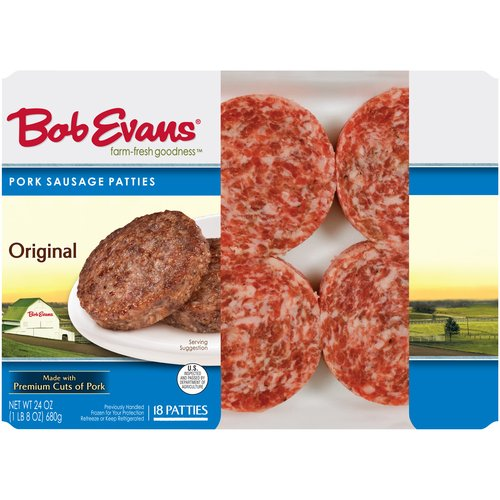 Bob Evans Original Pork Sausage Patties, 18 count, 24 oz