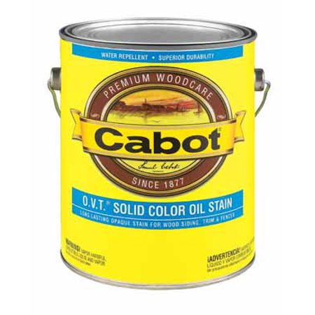Cabot O.V.T. Solid Tintable Deep Base Oil-Based Stain 1 gal. - Case Of: 4; Each Pack Qty: 1; Deep Base Stain