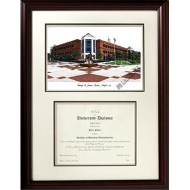 Campus Images VA997V George Mason University ''Scholar'' Lithograph and Diploma Frame