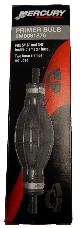 OEM Mercury Fuel Primer Bulb for 5/16 & 3/8 inch Inside Diameter Hose  8M0061876