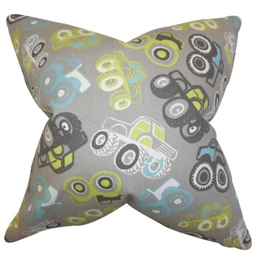 The Pillow Collection Akiva Geometric Cotton Throw Pillow