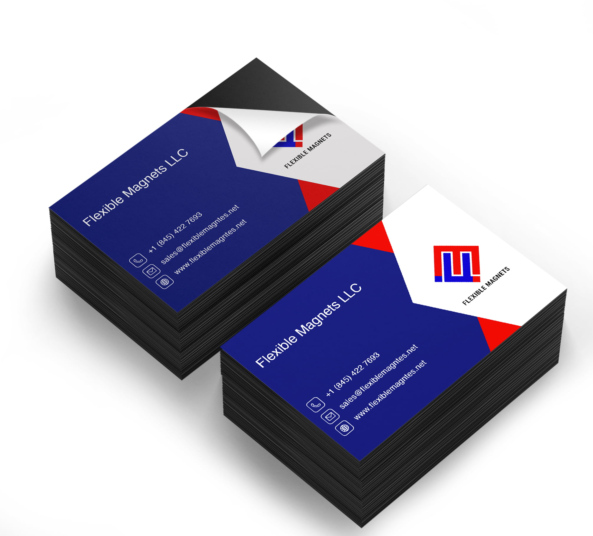20 X 2000 Adhesive Magnetic Business Card Magnets 20 mil Peel and ...