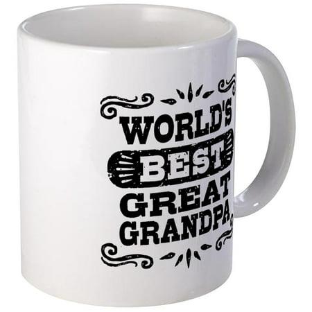 CafePress - World's Best Great Grandpa Mug - Unique Coffee Mug, Coffee Cup (Best Cafepress Great Grandpas)