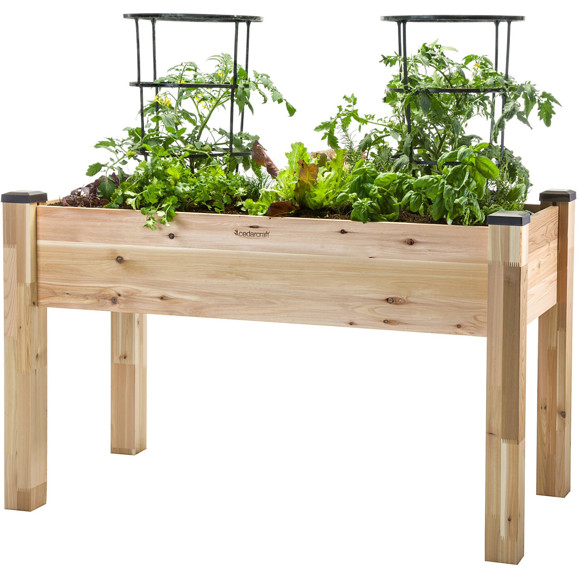 "CedarCraft 23"" x 49"" Elevated Planter by Dobi and Associates"