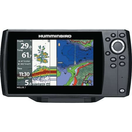 Humminbird 410340-1NAV HELIX 7 CHIRP SI GPS G2N Sonar Fishfinder &  Chartplotter with Down & Side Imaging, Navionics & 7