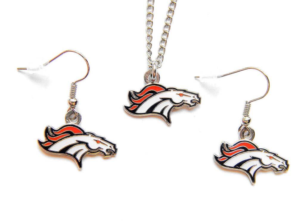 NFL Logo Earrings /& Pendant Set