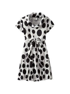 ec3fc881281 Product Image Big Girls Tween 7-16 Grey Black Sequin Polka Dot Knit Bubble  Dress