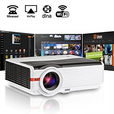 CAIWEI LED HD Video Projector Home Theater 1080P Movie VGA USB HDMI Party Night