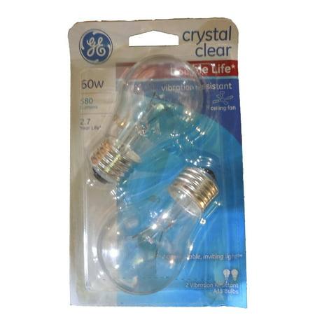 Ge ceiling fan crystal clear 60 watt 580 lumens medium base light ge ceiling fan crystal clear 60 watt 580 lumens medium base light bulbs aloadofball Image collections