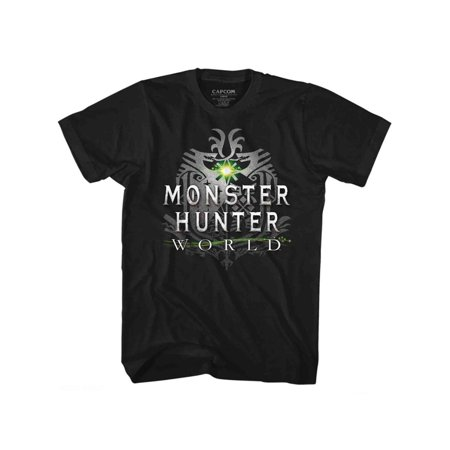 Monster Hunter World Video Game Hunt Black Adult T-Shirt Tee ()