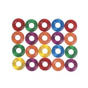Creativity Street Plastic Ring Stringing Bead, 5/8 in, Multiple Transparent Color, 6 Oz