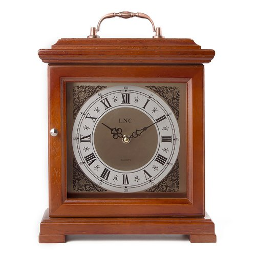 LNC Home Wood Portable Tabletop Clock