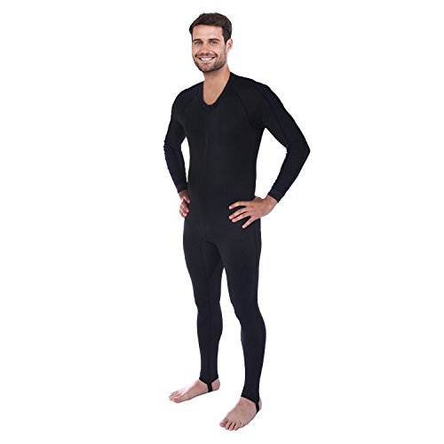 Ivation Men's Full Body Wetsuit Sport Skin for Running, Exercising, Diving, Snorkeling, Swimming & Water Sports by Ivation