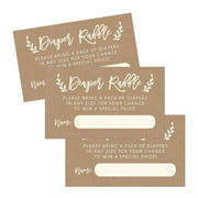 Baby shower invitations 25 diaper raffle ticket lottery insert cards for rustic kraft baby shower invitations supplies and filmwisefo