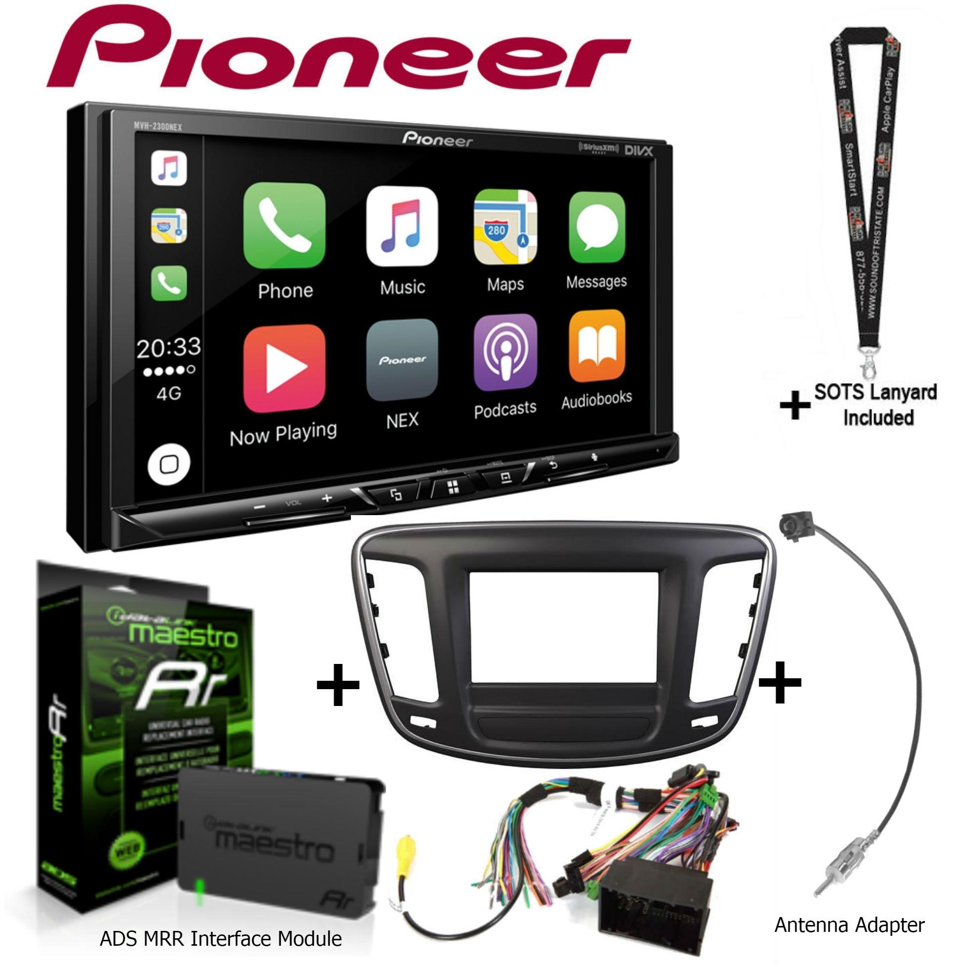 "Pioneer MVH-2300NEX 7"" Multimedia Receiver (no CD's), iDatalink KIT-C200 Dash wiring kit for select Chrysler,... by Pioneer"