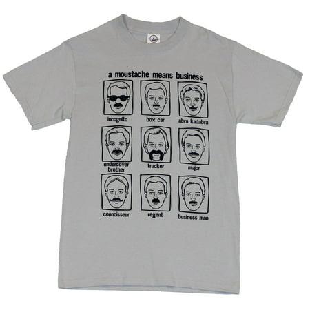 Moustache Styles Mens T-Shirt  - Multiple Moustaches Defined Image on Gray](Moustache Sale)