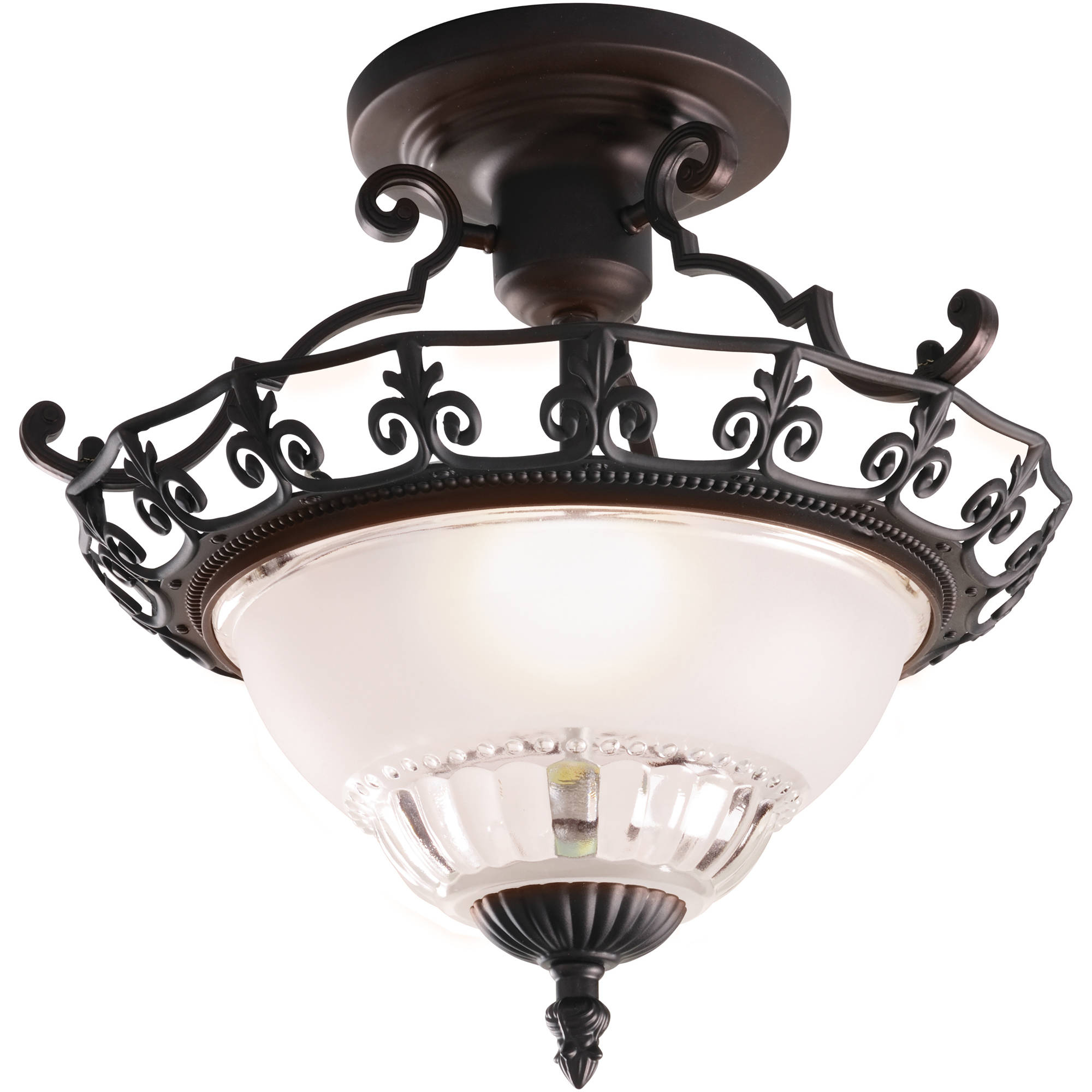 "Chapter Indoor 11.25"" Ceiling Semi-Flush Mount, Oil-Rubbed Bronze"