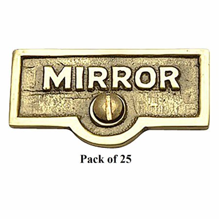 25 Switch Plate Tags MIRROR Name Signs Labels Lacquered Brass | Renovators Supply