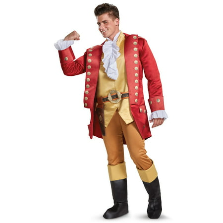 Disney Beauty and the Beast: Gaston Deluxe Adult Costume (Beauty And The Beast Costumes Adults)