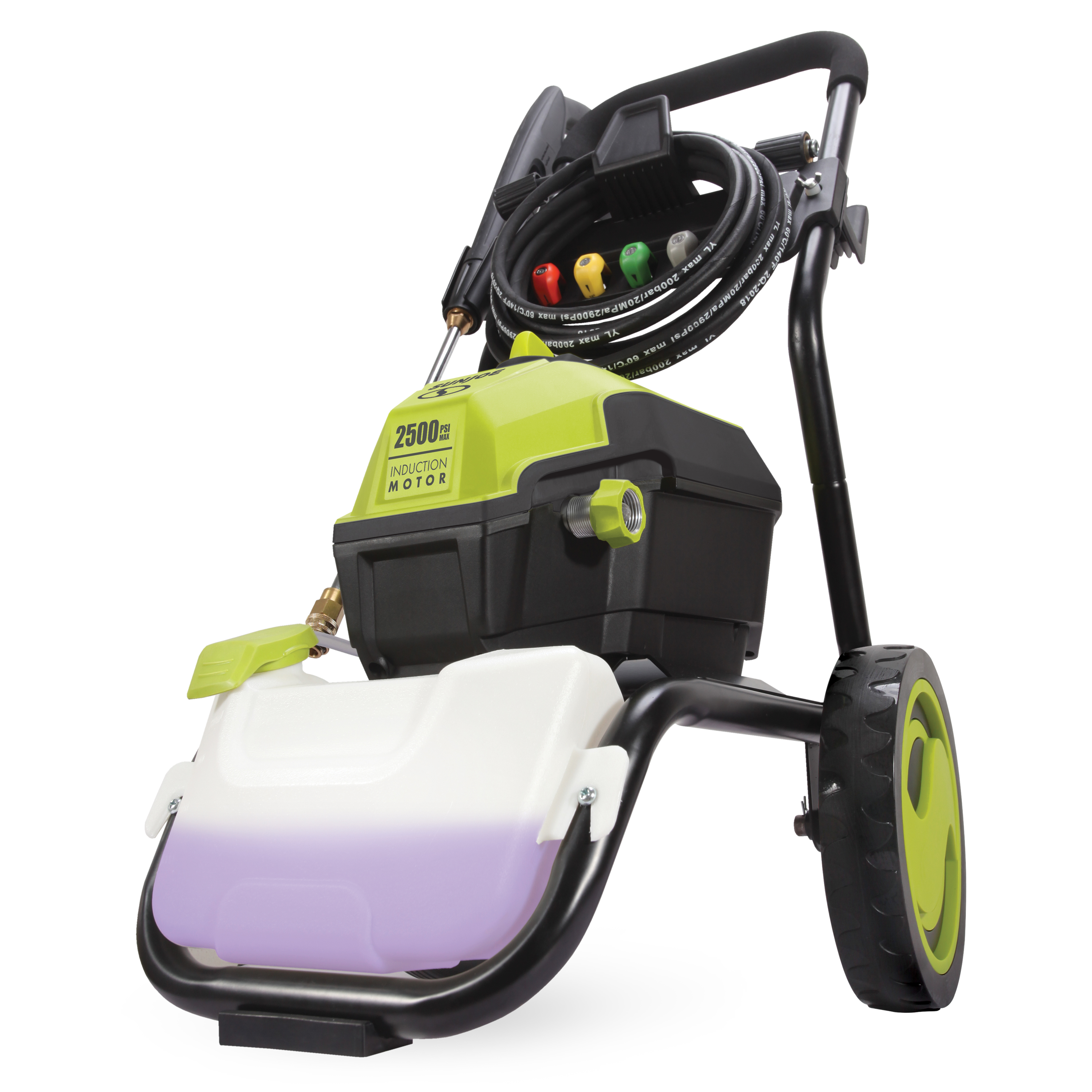 Sun Joe SPX4500 High Performance Induction Motor Electric Pressure Washer   2500 PSI Max   1.48 GPM   Roll Cage