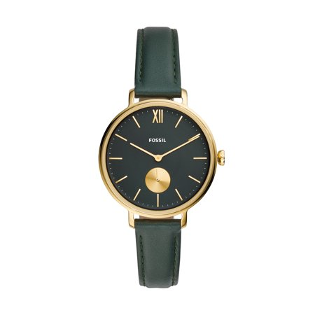 Fossil Women's Kalya Three-Hand Dark Green Leather Watch ES4662 (Fossil Watch With Green Face)