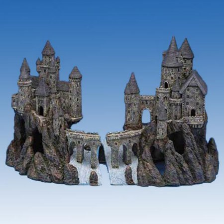 Penn Plax Age-of-Magic Magical Castle Aquarium Ornament, Super Size, Full Set