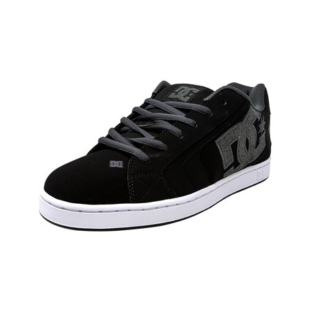 Dc Men's Net Se Black / Grey Low Top Leather Skateboarding Shoe - 9.5M