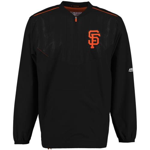 San Francisco Giants Majestic On Field Cool Base Training Half-Zip Jacket Black by MAJESTIC LSG