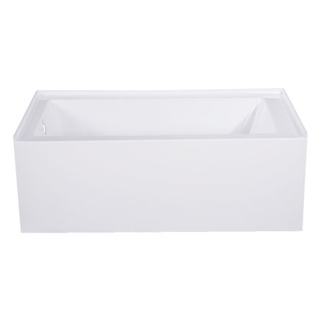 "Aqua Eden 54"" Acrylic Alcove Bathtub with Left Hand Drain, White"