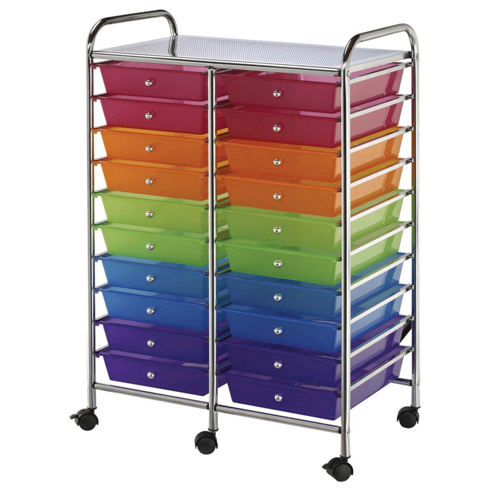 Alvin Storage Cart 20-Drawer (Standard) Multi-Colored
