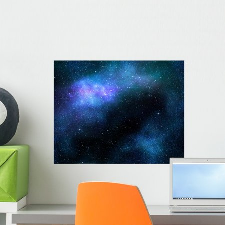 Starry Deep Outer Space Wall Mural by Wallmonkeys Peel and Stick Graphic (18 in W x 14 in H) (Outer Space Wall Mural)