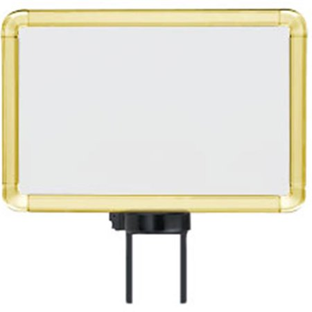 Lavi Industries 50-1130SH-S-GD Horizontal Swivel Mount Sign Frame, 7 x 11 In. Gold