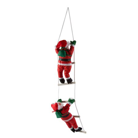 santa claus climbing stairs christmas tree decoration large size with stairred walmartcom - Christmas Decorations Large Santa Claus