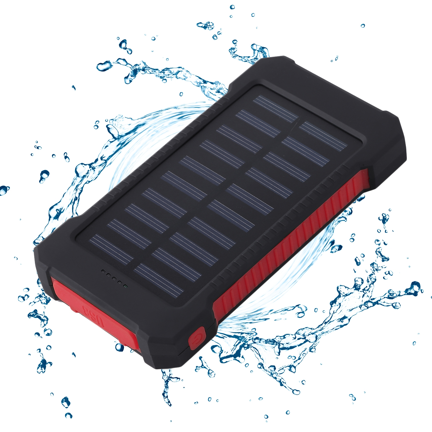 CNMODLE Portable Solar Battery Charger Dual USB Solar Power Bank External Battery For Mobile Phone 300000mAh Mobile Pover Bank