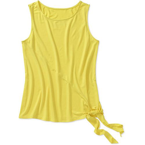 George Career Essentials Women's Stretch Jersey Tie Bottom Sleeveless Top