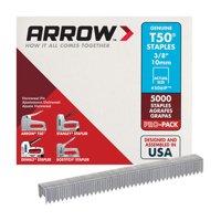 Arrow Fastener T50 3/8 in. L x 3/8 in. W Flat Crown Heavy Duty Staples 5000 pk