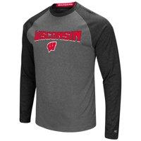 Mens Wisconsin Badgers Long Sleeve Raglan Tee Shirt - S