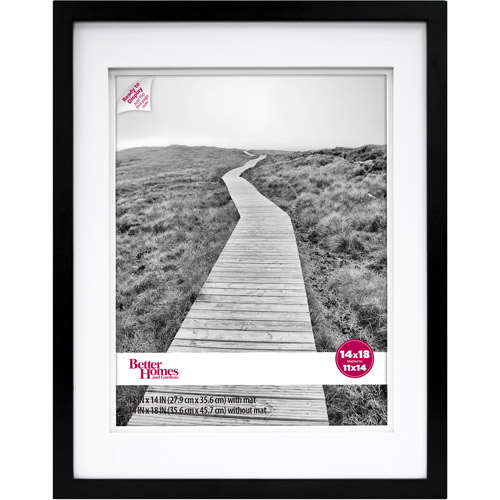 Better Homes and Gardens 14x18 11x14 Wide Gallery Frame, Black by MCS