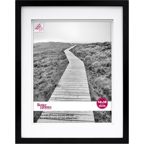 Better Homes and Gardens 14x18/11x14 Wide Gallery Frame, Black ...