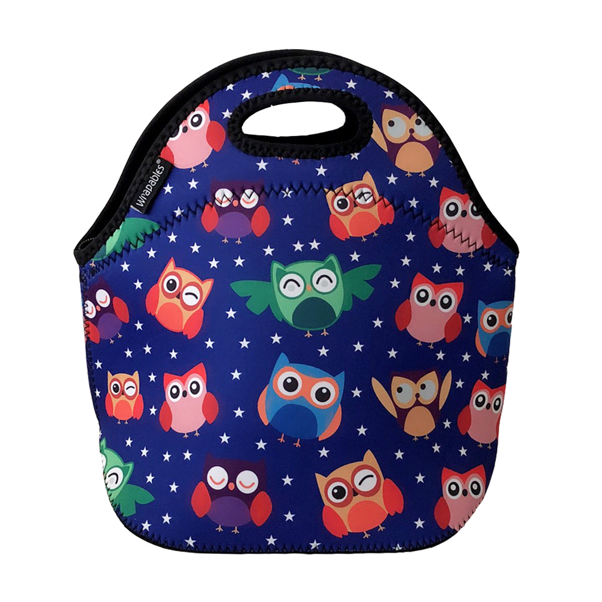 ALLYDREW Insulated Neoprene Lunch Bag Zipper Lunch Box Tote Bicycles