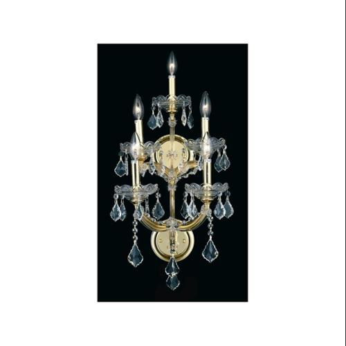 Maria Theresa Clear Crystal Sconce w 5 Lights in Gold (Royal Cut)