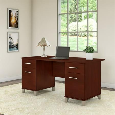 Sensational Bush Furniture Somerset 60W Office Desk In Hansen Cherry Home Interior And Landscaping Ologienasavecom