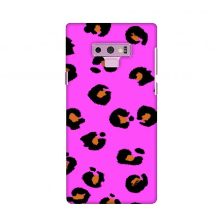 Samsung Galaxy Note9 Case, Premium Handcrafted Designer Hard Shell Snap On Case Shockproof Printed Back Cover for Samsung Galaxy Note9 - Leopard - Brushed Shadow Spots On Hot (Leopard Spots Rubber)