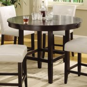 Bossa 48 in. Round Counter Height Dining Table - Dark Chocolate