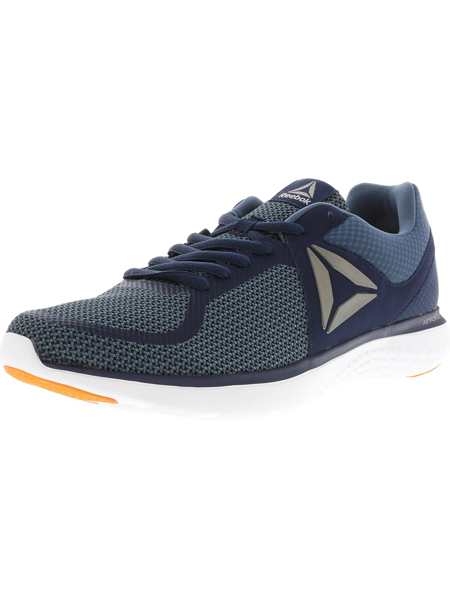 eaa194072fcee5 Reebok Men s Astroride Run Mt Navy   Blue White Orange Ankle-High Running  Shoe - 14M